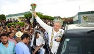 Reitera López Obrador ampliación de carretera Pachuca-Huejutla