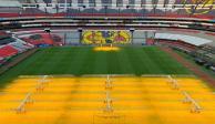 El Azteca estrena tecnología en el césped para NFL