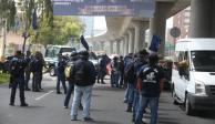 Policías federales protestan por tercer día consecutivo en Periférico