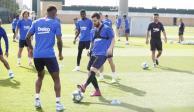 Lionel Messi regresa a los entrenamientos con el Barcelona