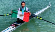¡Llegó el oro 31! Kenia Lechuga sube al podio en remos cortos