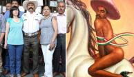 """Familia de Zapata demandará a artista y al INBAL por obra """"gay"""""""