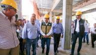 Realizan un recorrido de supervisión y evaluación a la obra del nuevo Hospital Regional de Tlapa de Comonfort
