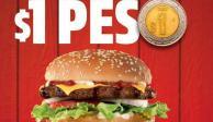 Para festejar el Día de la Hamburguesa, famosa cadena las vende a un peso