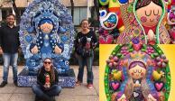 Virgencitas multicolor deslumbran en Paseo de la Reforma (FOTOS)
