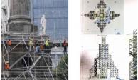 Arrancan trabajos para rehabilitar estructura del Ángel de la Independencia