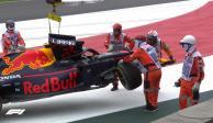 Alexander Albon choca con el muro en la práctica 2 del GP México