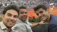 Checo Pérez ve con Ronaldo debut de Federer en Abierto de Madrid