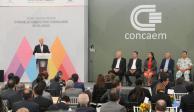Edomex, atractivo para invertir: Del Mazo ante empresarios de Concaem