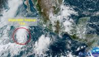 Depresión Tropical 13-E activa las alertas en el Pacífico mexicano