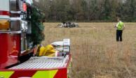 Caída de avión en Luisiana deja cinco muertos