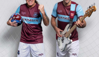 Iron Maiden luce en la camiseta del West Ham