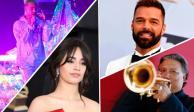 J Balvin, Ricky Martin y Arturo Sandoval, con Camila Cabello en los Grammy
