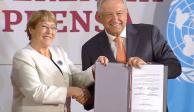 Firman Bachelet y AMLO acuerdo para brindar asesoría en DH a la Guardia Nacional