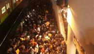 Suma desabasto aglomeración de pasajeros en líneas 1, 2 y B del Metro
