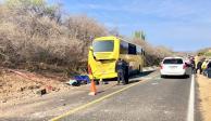 Nueve oaxaqueños muertos en accidente carretero en Puebla