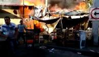 FOTOS: Se registran dos incendios este domingo en Iztapalapa