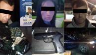 Detienen a policías y a extranjeros con drogas y armas en las Lomas
