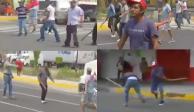 Manifestantes armados con palos repliegan protesta en Iztapalapa