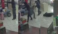 VIDEO: Guardia abate a asaltante de casa de empeño en Puebla