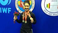 Jennifer Cantú, campeona mundial de levantamiento de pesas