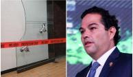 Alcalde de Huixquilucan paga 32 mil pesos por puerta rota en Cámara de Diputados