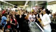 Flor Amargo y Ana Bárbara deleitan con música a usuarios del Metro