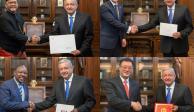 FOTOS: Recibe AMLO cartas credenciales de 4 nuevos embajadores