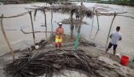 Narda se degrada a depresión, pero deja inundaciones en Guerrero
