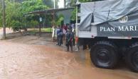 Más de 5 mil marinos auxilian a afectados por tormenta Narda