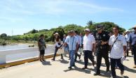 Astudillo recorre zonas afectadas por Narda y entrega obra y apoyos