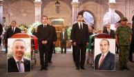 Despide Gobierno de Michoacán a funcionarios y pilotos con homenaje