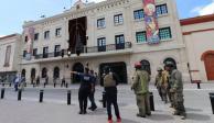 Desalojan presidencia municipal de Matamoros por amenaza de bomba