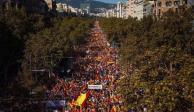 Marchan 400 mil personas en Barcelona contra el independentismo