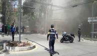 Se incendia plaza comercial de Polanco, no hay lesionados