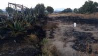 Arde camioneta huachicolera junto a toma clandestina en Hidalgo