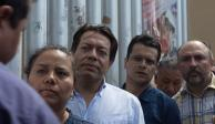Suspenden asamblea de Morena e impiden ingreso a Mario Delgado