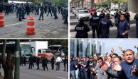 Policías federales estrangulan a la Ciudad de México con cuatro bloqueos