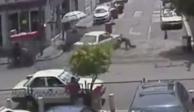 Para evitar infracción, taxista atropelló a mujer policía