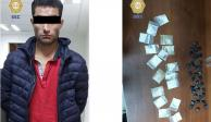 Hombre es detenido con 52 envoltorios de cocaína en Cuajimalpa