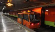 """Conoce el """"Metro bebé"""" que el STC utiliza para mantenimiento de las vías"""