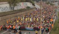 Quinto día de huelgas y protestas paraliza Cataluña