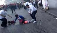 disturbios, encapuchados, marca, 2 de octubre, cinturon de paz