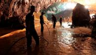 Salir buceando, única opción factible para rescate de niños, considera Tailandia