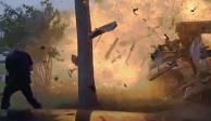 Captan explosión de una casa en Texas