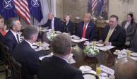 Con descalificaciones a socios, arranca Trump participación en cumbre de la OTAN