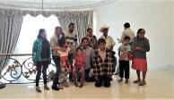 Una familia de Guerrero visitó Los Pinos y su foto se viralizó