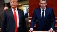 Trump asegura que países de la OTAN elevarán gasto militar; Macron lo niega