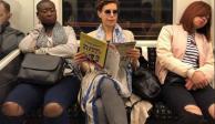 Reaparece Karime Macías viajando en Metro de Londres