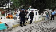 Por visitas a panteones de la capital, se aplica operativo de seguridad